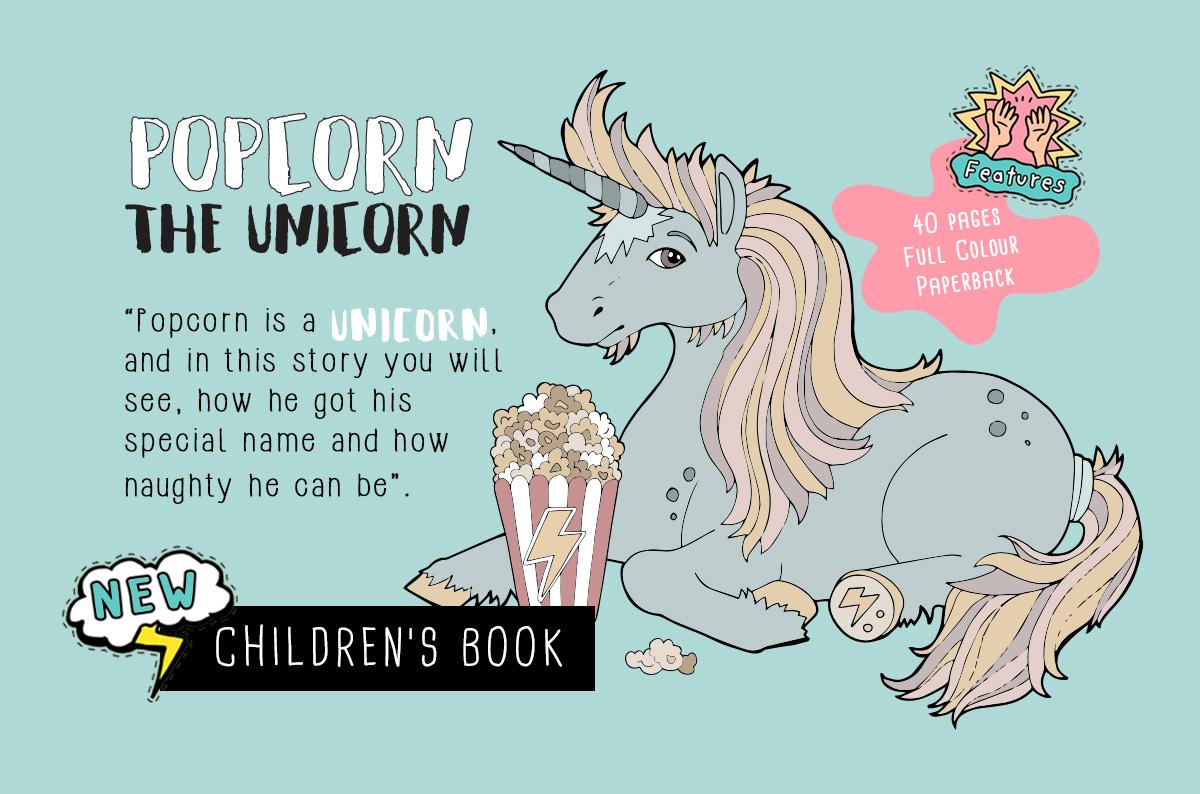 Popcorn the Unicorn Childrens Book