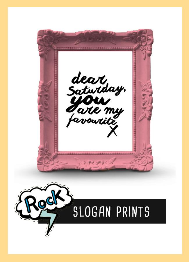 Graphic Design Slogan Prints