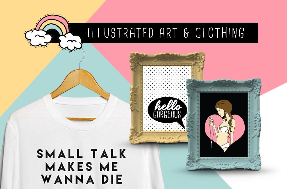 illustrated art & clothing